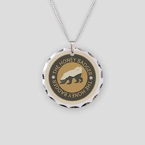 Honey Badger Necklace Circle Charm