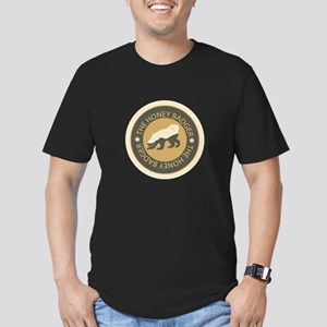Honey Badger Men's Fitted T-Shirt (dark)