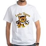 Lady Tigers Soccer White T-Shirt