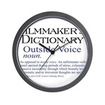 Outside Voice Wall Clock