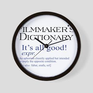 Film Dictionary: All Good! Wall Clock
