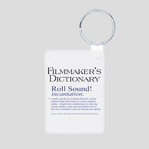 Film Dctnry: Roll Sound! Aluminum Photo Keychain