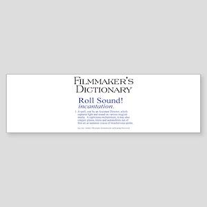 Film Dctnry: Roll Sound! Sticker (Bumper)
