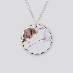 Ball Chihuahua Necklace Circle Charm