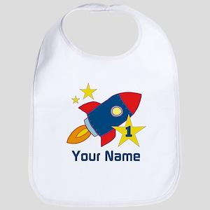 1st Birthday Rocket Bib