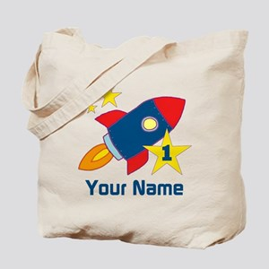 1st Birthday Rocket Tote Bag