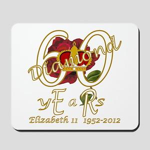 Queen Elizabeth 60 diamond years jubilee Mousepad