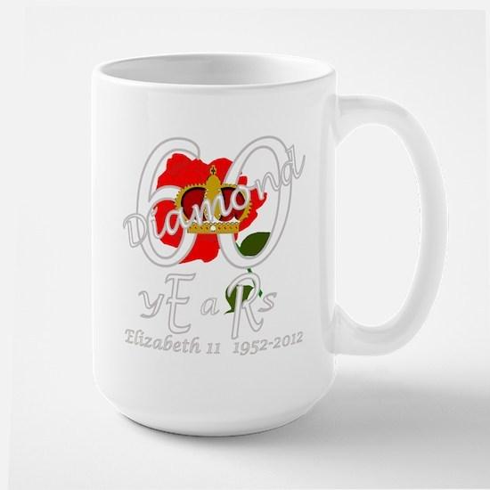 Queen Elizabeth 60 diamond years jubilee Large Mug