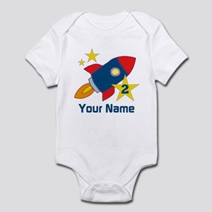 2nd Birthday Rocket Infant Bodysuit