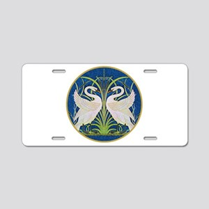 The Swans Aluminum License Plate