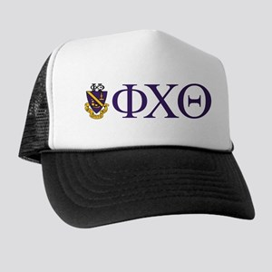 Phi Chi Theta Crest And Letters Trucker Hat