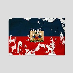 Haiti Flag Rectangle Magnet