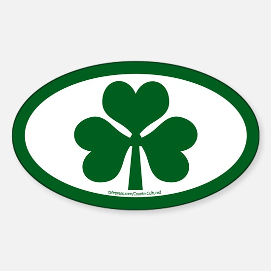 Shamrock Euros Oval Decal