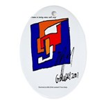 The Cubist Man or The Cube.... Oval Ornament