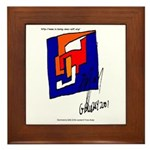 The Cubist Man or The Cube.... Framed Tile