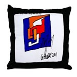 The Cubist Man or The Cube.... Throw Pillow