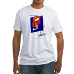 The Cubist Man or The Cube.... Fitted T-Shirt