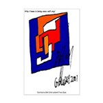 The Cubist Man or The Cube.... Mini Poster Print