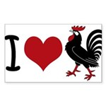 I Heart Cock Sticker (Rectangle)