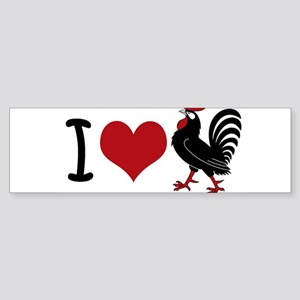 I Heart Cock Sticker (Bumper)