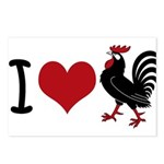 I Heart Cock Postcards (Package of 8)