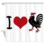 I Heart Cock Shower Curtain
