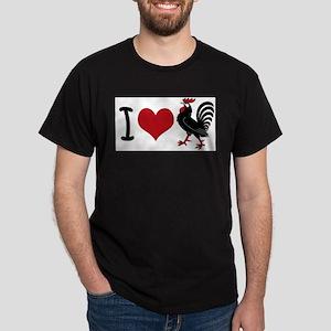 I Heart Cock Dark T-Shirt