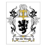 Van der Woude Coat of Arms Small Poster