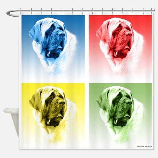 Mastiff Pop (smooth) Shower Curtain