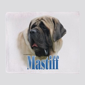 Mastiff(fawn)Name Throw Blanket