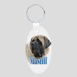 Mastiff(fawn)Name Aluminum Oval Keychain