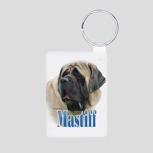Mastiff(fawn)Name Aluminum Photo Keychain
