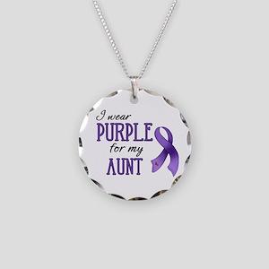 Wear Purple - Aunt Necklace Circle Charm