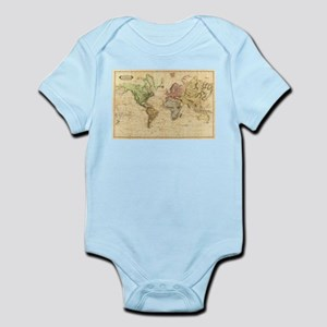 Vintage Map of The World (1831) Body Suit