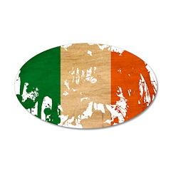 Ireland Flag 38.5 x 24.5 Oval Wall Peel