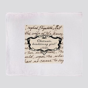 Elizabeth Bennett Throw Blanket