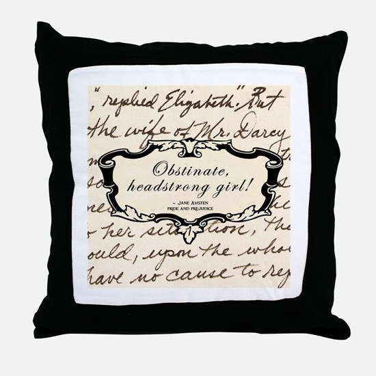Elizabeth Bennett Throw Pillow