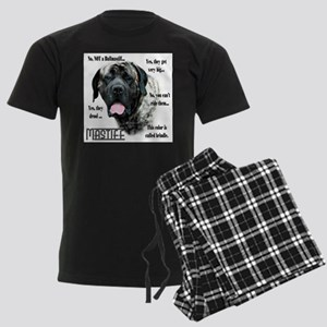 Mastiff(brindle)FAQ Men's Dark Pajamas
