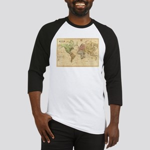 Vintage Map of The World (1831) Baseball Jersey
