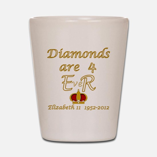 Queens jubilee 2012 diamonds are forever Shot Glas