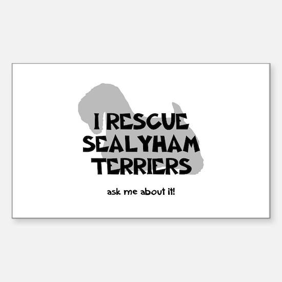 I RESCUE Sealyhams Sticker (Rectangle)