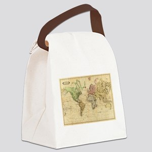 Vintage Map of The World (1831) Canvas Lunch Bag