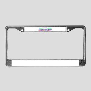 Daisy Figure Skater License Plate Frame