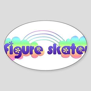 Daisy Figure Skater Sticker (Oval)