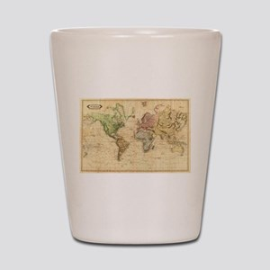 Vintage Map of The World (1831) Shot Glass
