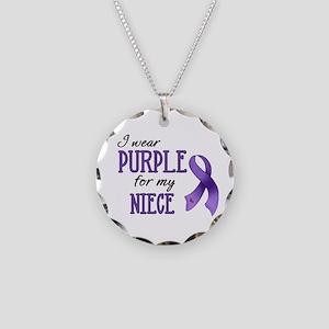 Wear Purple - Niece Necklace Circle Charm