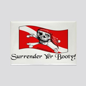 Surrender Yer Booty Rectangle Magnet