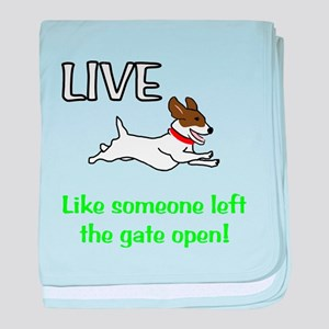 Live the gates open baby blanket