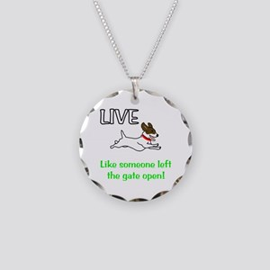 Live the gates open Necklace Circle Charm