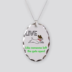 Live the gates open Necklace Oval Charm